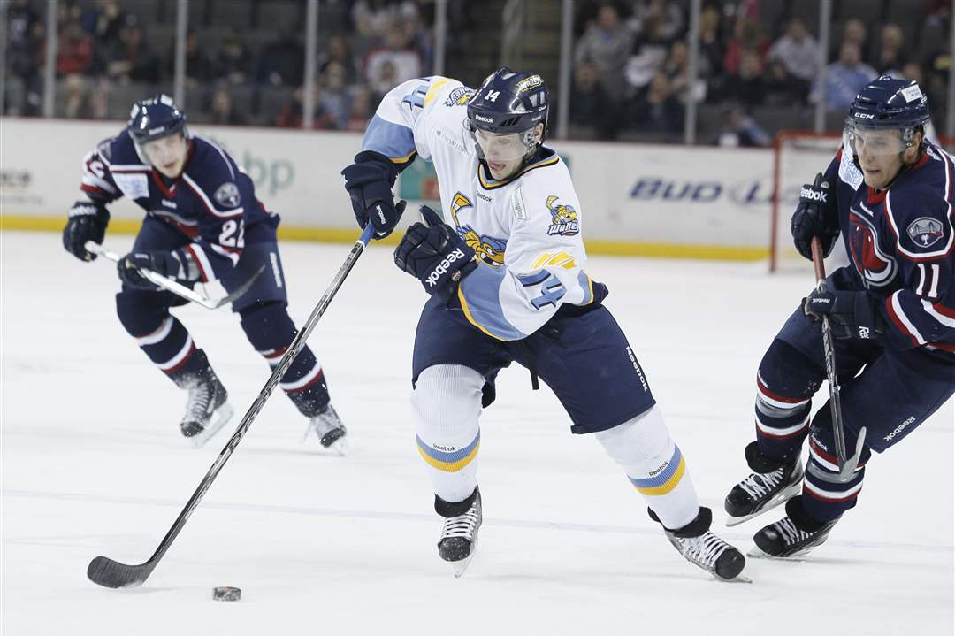 Walleye-s-Joey-Ryan-skates-past-South-Carolina-Trent-Campbell