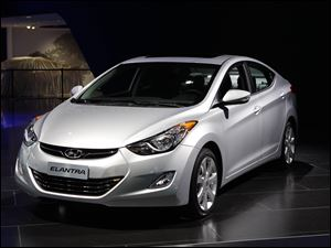 The 2012 Hyundai Elantra is shown at the North American International Auto Show in Detroit, Monday.