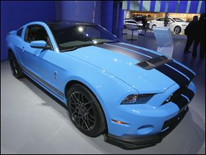 The 2013 Ford Shelby GT500 is capable of reaching 200 mph.