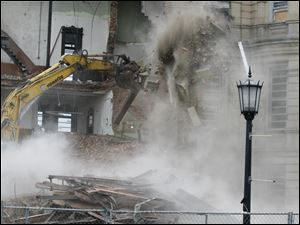 Demolition continues on day four.