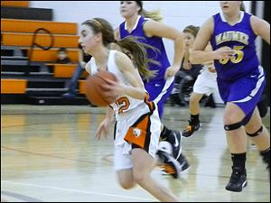 Southview Freshman Maria Pappas, 12, dominated the ball as point guard on Friday night.