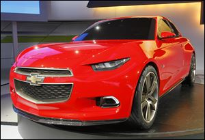 The Chevy Code 130R, above, along with the True 140S, is a world premiere. Chevy wants feedback, so the company has paired the cars with interactive displays in the hopes that show-goers will leave that feedback.