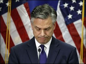 Republican presidential candidate, former Utah Gov. Jon Huntsman, announces he is ending his campaign, Monday in Myrtle Beach, S.C.