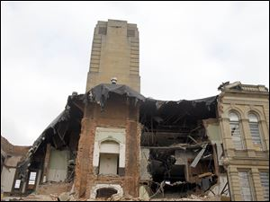 The Seneca County Courthouse demolition site on January 18, 2012.