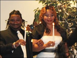 Darnell and Charon Flowers, married Sept. 11, 2011, at Friendship Baptist Church. Home: Toledo.