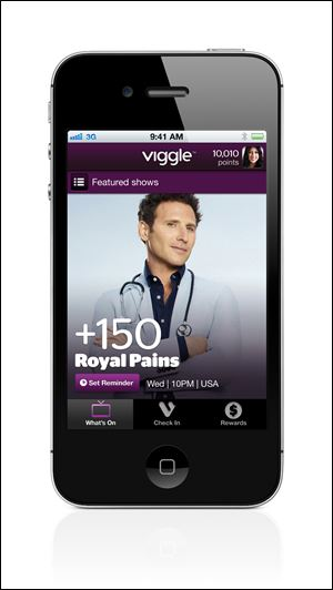 The Viggle app rewards users with $5 gift cards for such retailers as Burger King and Best Buy.