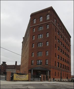 "Developers say the old Standart-Simmons Building, also known as the Triangle Building, has a great location as a sort of a sentry to the Warehouse District. But the building itself ""is one of the coolest buildings in downtown Toledo,"" developer Richard Karp says."
