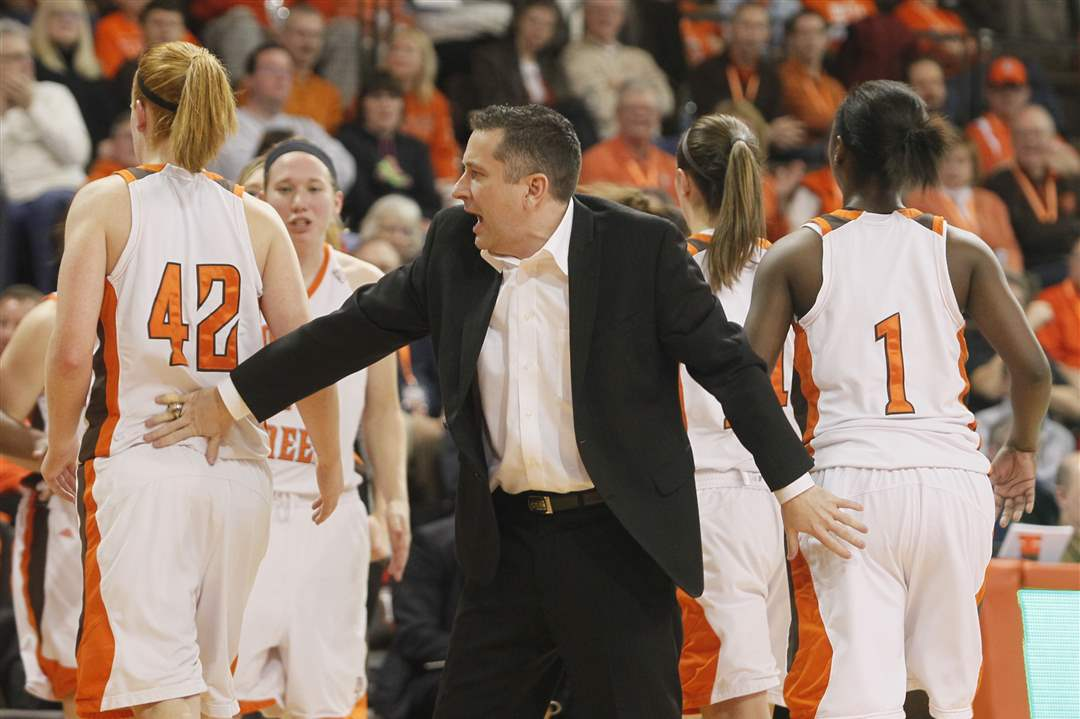 BGSU-head-coach-Curt-Miller-gets-his-players-off-the-court-for-a-timeout