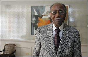 Frank Goldie, 92, grew up in the 'Out Stickney' community in North Toledo, an area where many blacks moving from the South settled.