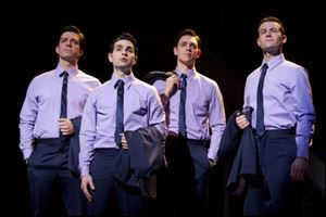 "The ""Jersey Boys,"" from left, Brandon Andrus, Brad Weinstock, Jason Kappus, and Colby Foytik."