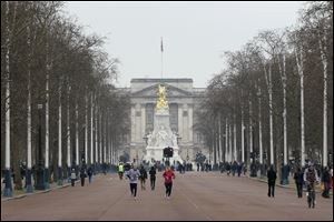 The Mall, with Buckingham Palace in the background, will host the start and finish of London 2012 Olympic marathon, race walk and road cycling competitions with most sections of the courses free to watch.