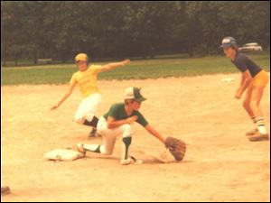 Kids enjoy a day  of playing baseball at White Park in 1979. They're still playing ball today, and the spring and summer registration for children ages 6-18 began Tuesday and runs through Thursday at Bedford High School from 6-8 p.m.