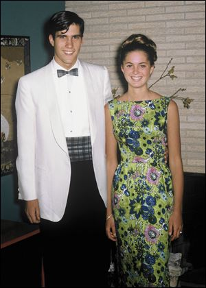 Mitt Romney and his girlfriend Ann Davies, shown on the day of his senior prom, married in 1969 at her family's home in Bloomfield Hills. Their 43rd anniversary will come in March.