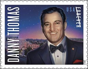 The United States Postal Service and St. Jude Children's Research Hospital honor Toledo native Danny Thomas.