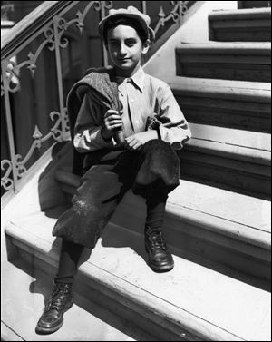 Danny Thomas, shown here at age 9 in 1921, was born in Michigan as Amos Muzyad Yakhoob Kairouz  but grew up in the 'little Syria' section of North Toledo.
