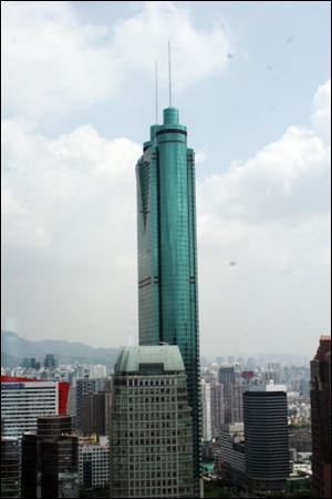 The Empire Building, a 69-story glass skyscraper is the building for which Mr. Wu is best known.