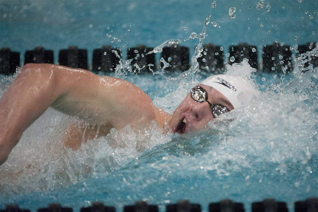 Dan-DiSalle-of-Toledo-St-Francis-De-Sales-swims-the-Men-s-100-yard-Freestyle-event
