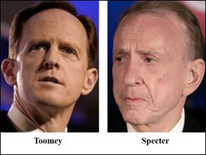 Pat Toomey, left, won a U.S. Senate seat in Pennsylvania, in 2010, after driving Arlen Specter, right, out of the Republican Party.