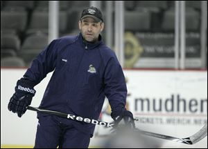 Toledo Walleye head coach Nick Vitucci.