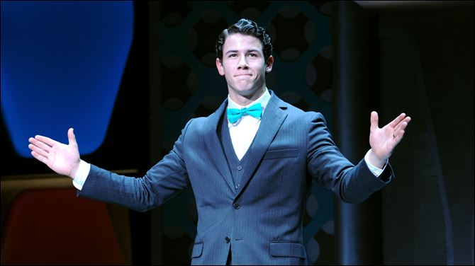 Nick Jonas attends the curtain call of Nick Jonas' debut  Nick Jonas attends the curtain call of Nick Jonas' debut in