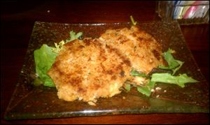 The pan-seared crab cakes were full but light, with a nice spicy kick