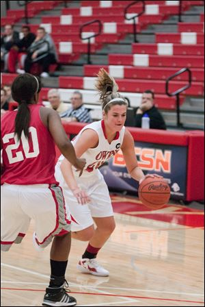 owens community collegeEmma-Jean Rickets is second on the Express team in scoring and rebounding.
