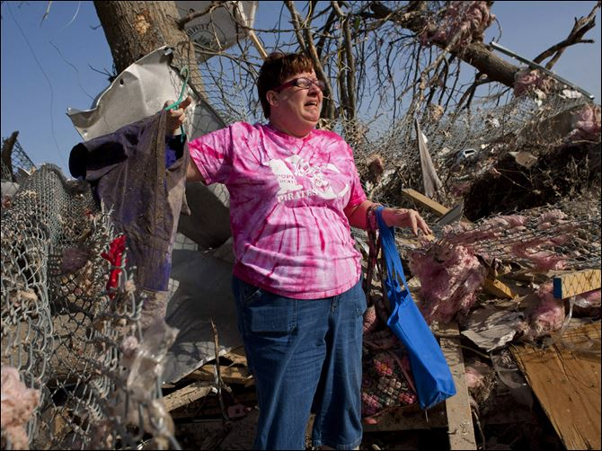 Severe Weather Patty Ferrell Harrisburg Illinois Patty Ferrell, of Herod, Ill., is overcome with emotion after finding nursing scrubs on a hanger that belonged to her daughter, Jaylynn Ferrell, 22, who was killed in a tornado that struck Harrisburg, Ill., on Wednesday. The tornado destroyed the duplex where Jaylynn Ferrell had lived.