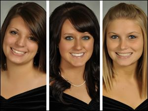 The BGSU students killed in Friday's wrong-way I-75 crash are, from left, Christina Goyett, 19, of Bay City, Mich.; Sarah Hammond, 21, of Yellow Springs, Ohio; and Rebekah Blakkolb, 20, of Aurora, Ohio.