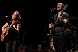 Crystal Bowersox, left, and long-time bassist Frankie May perform at Monroe Community College in April, 2011.