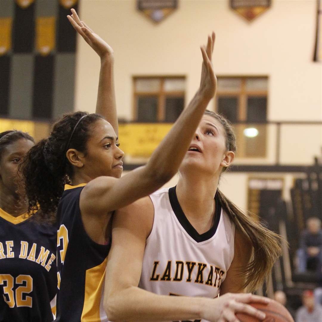 Northview-s-Jessica-Jessing-goes-to-the-basket-against-Notre-Dame-s-Ashley-Kynard