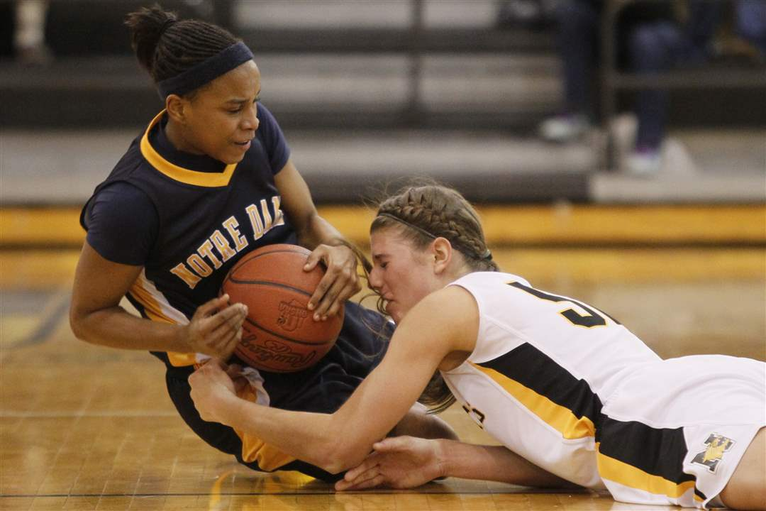 Notre-Dame-s-Cat-Wells-left-and-Northview-s-Jessica-Jessing-battle