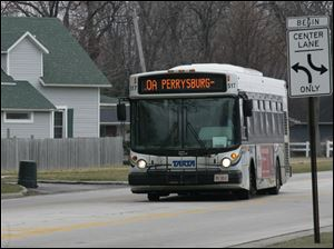 The sight of TARTA buses on Perrysburg streets would become a thing of the past if residents there vote Tuesday to sever ties with the transit agency. The city pays about $1.5 million in property taxes annually to TARTA.