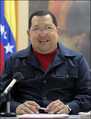 Venezuela's President Hugo Chavez speaks during a televised speech at an undisclosed location in Havana, Cuba, Saturday. Chavez appeared Sunday on television for the first time in nine days during which he underwent surgery in Cuba to remove a tumor.