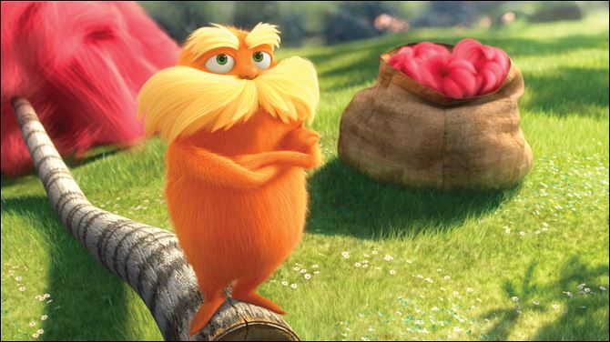 Film Review The Lorax Danny Devito voices the character Lorax in the animated film based on the Dr. Seuss book.