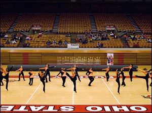The Cougarettes won first place in the jazz division at the state championships.