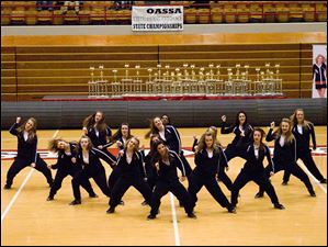 Southview dance team performs its Hip Hop routine at the state championships.