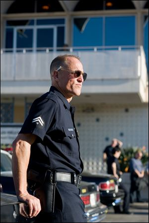 Woody Harrelson portrays Los Angeles police officer Dave Brown in the drama 'Rampart.'