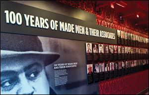 Glitz, glamour and the mob's influence on Las Vegas are exhibited at The Mob Museum in downtown Las Vegas, Nevada.