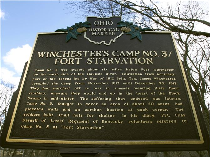 Region looks back on strife of war fought 200 years ago A marker commemorates Camp No. 3, where militiamen encamped in November and December of 1812.