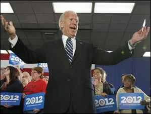 Biden came to Toledo to tout the Obama administration's auto industry bailout.