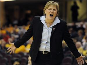 Toledo coach Tricia Cullop and the Rockets will start the defense of their WNIT championship with a home game versus Detroit on Friday night.