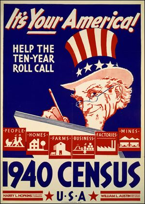 This poster was part of an unprecedented Census Bureau effort to encourage Americans to participate in the tabulation.