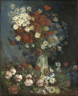 "This photo provided by the Kroeller Mueller Museum in Otterlo, Netherlands shows a painting entitled ""Still life with meadow flowers and roses"" by Vincent van Gogh. The Kroeller Mueller Museum says new X-ray research has finally put beyond doubt that ""Still life with meadow flowers and roses"" really is by Van Gogh."