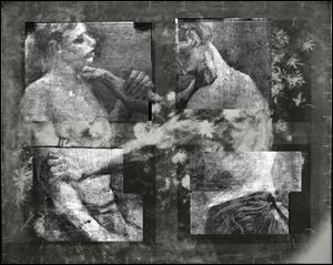 The X-ray research has also uncovered in greater detail an art school study by Van Gogh of two wrestlers concealed on the same canvas and invisible to the naked eye.