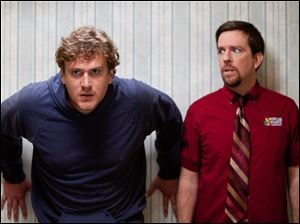 Jason Segel, left, and Ed Helms star in the comedy 'Jeff, Who Lives at Home.'