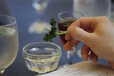 The-dipping-of-parsley-into-salt-water
