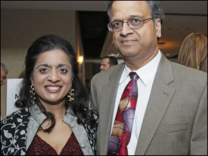 Juhi and Navin Jain at the Cyrstal Ball.