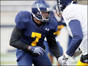 Vladimir Emilien is expected to start at star linebacker for Toledo  after sitting out two years following his transfer from Michigan.