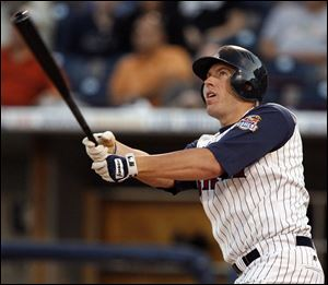 Mike Hessman, the 2007 IL MVP, is the Mud Hens' career leader in home runs (140) and RBIs (373).