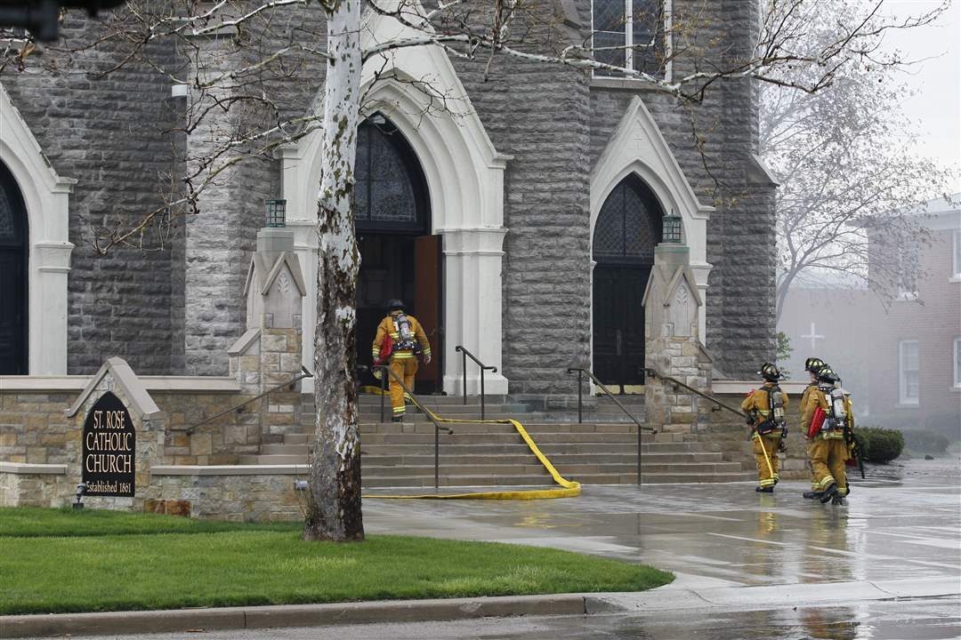 Firefighters-enter-St-Rose-Church-in-Perrysburg